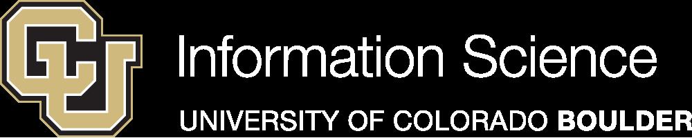 [CU Logo] Information Science, University of Colorado Boulder